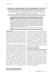 chemical composition and antimicrobial activity of the essential oil ...