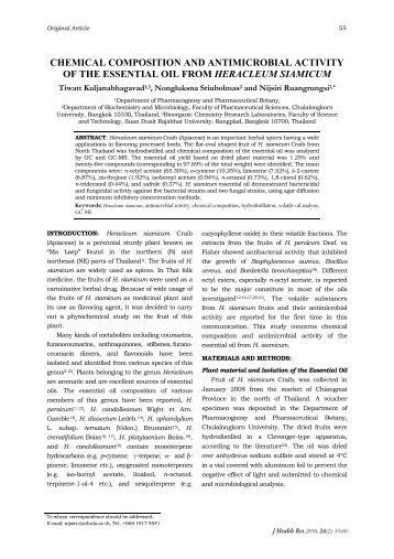 chemical composition of the essential oil J vect borne dis 44, september 2007, pp198–204 chemical composition and larvicidal activities of the essential oil of zanthoxylum armatum dc (rutaceae) against three mosquito vectors.