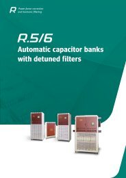 Automatic capacitor banks with detuned filters - Circutor