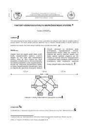 faktory hodnotiace kvalitu bezpečnostného systému - Fakulta ...