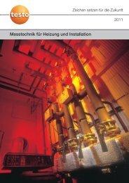 Messtechnik für Heizung und Installation (8.44 MB) - Testo AG