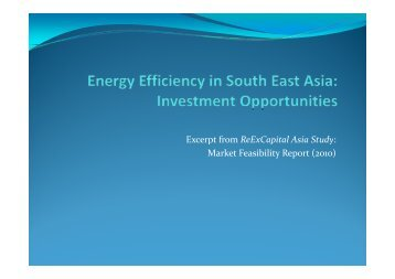 Excerpt from ReExCapital Asia Study: Excerpt from ... - IESR