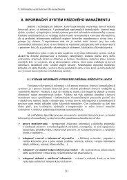 8. INFORMAČNÝ SYSTÉM KRÍZOVÉHO MANAŽMENTU
