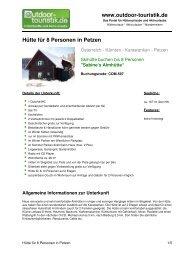Hütte für 8 Personen in Petzen - Outdoor-Touristik