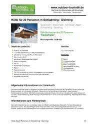 Hütte für 20 Personen in Schladming / Gleiming -  Outdoor-Touristik