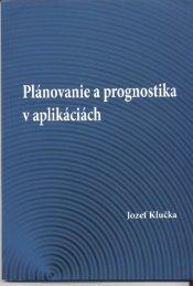 Plánovanie a prognostika - Žilinská univerzita