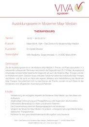 MMM III - Therapiekurs - VIVA - Das Zentrum für Moderne Mayr ...