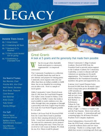 Legacy - The Community Foundation of Sidney and Shelby County