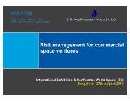 Risk management for commercial space ventures