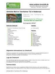 Almhütte Moll im Tannheimer Tal in Haldensee - Outdoor-Touristik