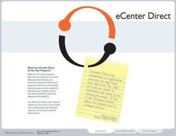 eCenter Direct Online Brochure - OutreachSystems.com