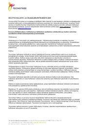 Selvitys hallinto- ja ohjausjärjestelmästä 2009 - Tecnotree