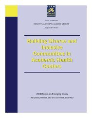 Building Diverse and Inclusive Communities in Academic Health ...