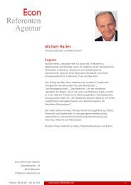 Michael Harles - Econ Referenten-Agentur