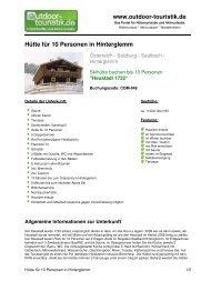 Hütte für 10 Personen in Hinterglemm - Outdoor-Touristik