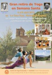 Gran retiro de Yoga en Semana Santa - Sivananda Yoga