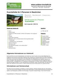 Kuschelhütte für 3 Personen in Neukirchen - Outdoor-Touristik