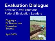 Evaluation Dialogue Between OMB Staff and ... - Federal Evaluators