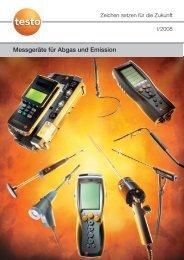 Messgeräte für Abgas und Emission - Testo AG