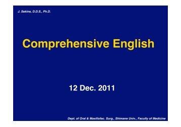 Comprehensive English