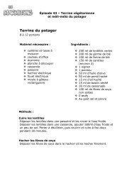 Terrine du potager - TFO