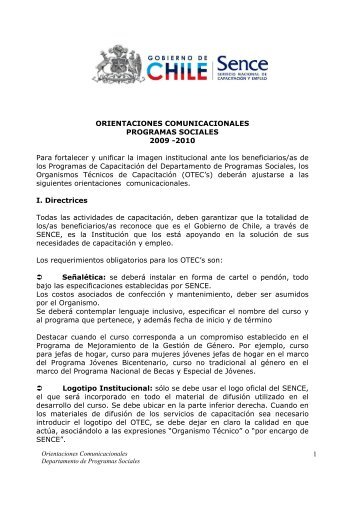1 ORIENTACIONES COMUNICACIONALES PROGRAMAS ...