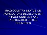 IRAQ COUNTRY STATUS ON AGRICULTURE ... - eRails