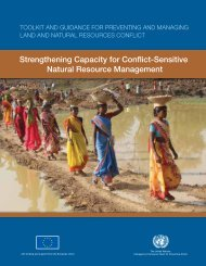 Strengthening capacity - Disasters and Conflicts - UNEP