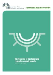 An overview of the legal and regulatory requirements - Alfi