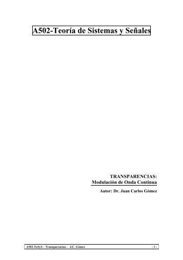 A502-Teoría de Sistemas y Señales TRANSPARENCIAS - Profe Saul