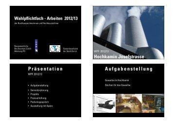 Projekt-Präsentation Baugewerbliche Berufsschule Zürich