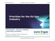 Priorities for the EU Gas Industry - Eurogas