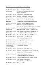 Messdienerplan vom 24. März bis zum 28. Mai 2013 ... - St. Petronilla