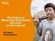 The Future of Massively Distributed Services on the Internet - HPTS