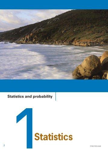 Statistics and probability 1Statistics