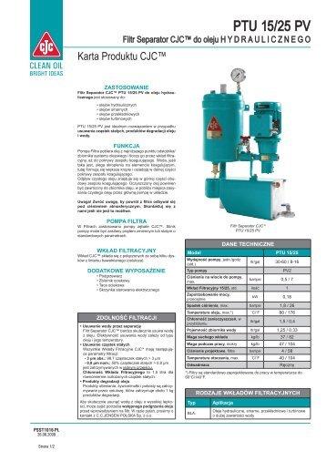 Filtr Separator CJC, PTU 15/25 HYDRAULICZNEGO - Cjc.dk