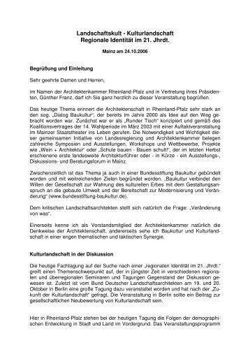 Begrüßung - Ehrenberg Landschaftsplanung