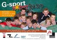 Sportcomplex 'De Bleukens' in Balen van 12 tot 16 juli - G-sport