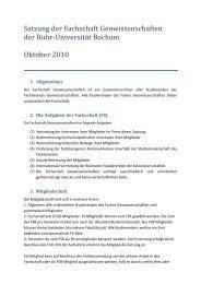 Fachschaft Geowissenschaften - Juristische Fakultät der Ruhr ...