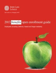 2013 benefits open enrollment guide - Jones Lang LaSalle
