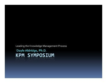 Leading the Knowledge Management Process
