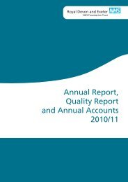 Annual Report, Quality Report and Annual Accounts 2010/11