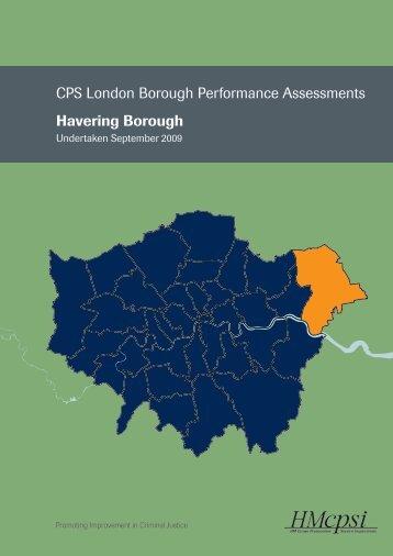 CPS London Borough Performance Assessments ... - HMCPSI