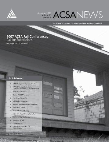 FRESH AIR - Association of Collegiate Schools of Architecture