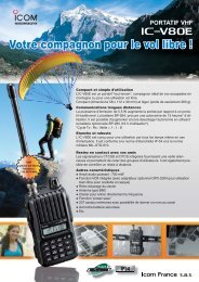 Documentation commerciale vol libre IC-V80E - Icom France
