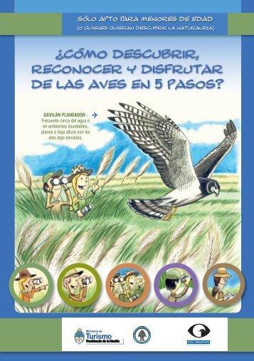 Cuadernillo de observacion de aves para chicos en baja