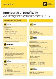 Aa Membership Benefits >> Aa European Breakdown Cover Terms And Conditions