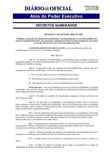 Insalubridade - Governo da Bahia