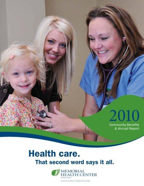Fiscal Year 2010 - Memorial Health Center