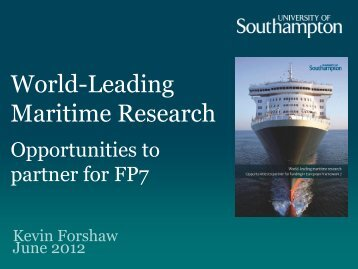 Academic Research Working for Industry - Maritime and Innovation ...